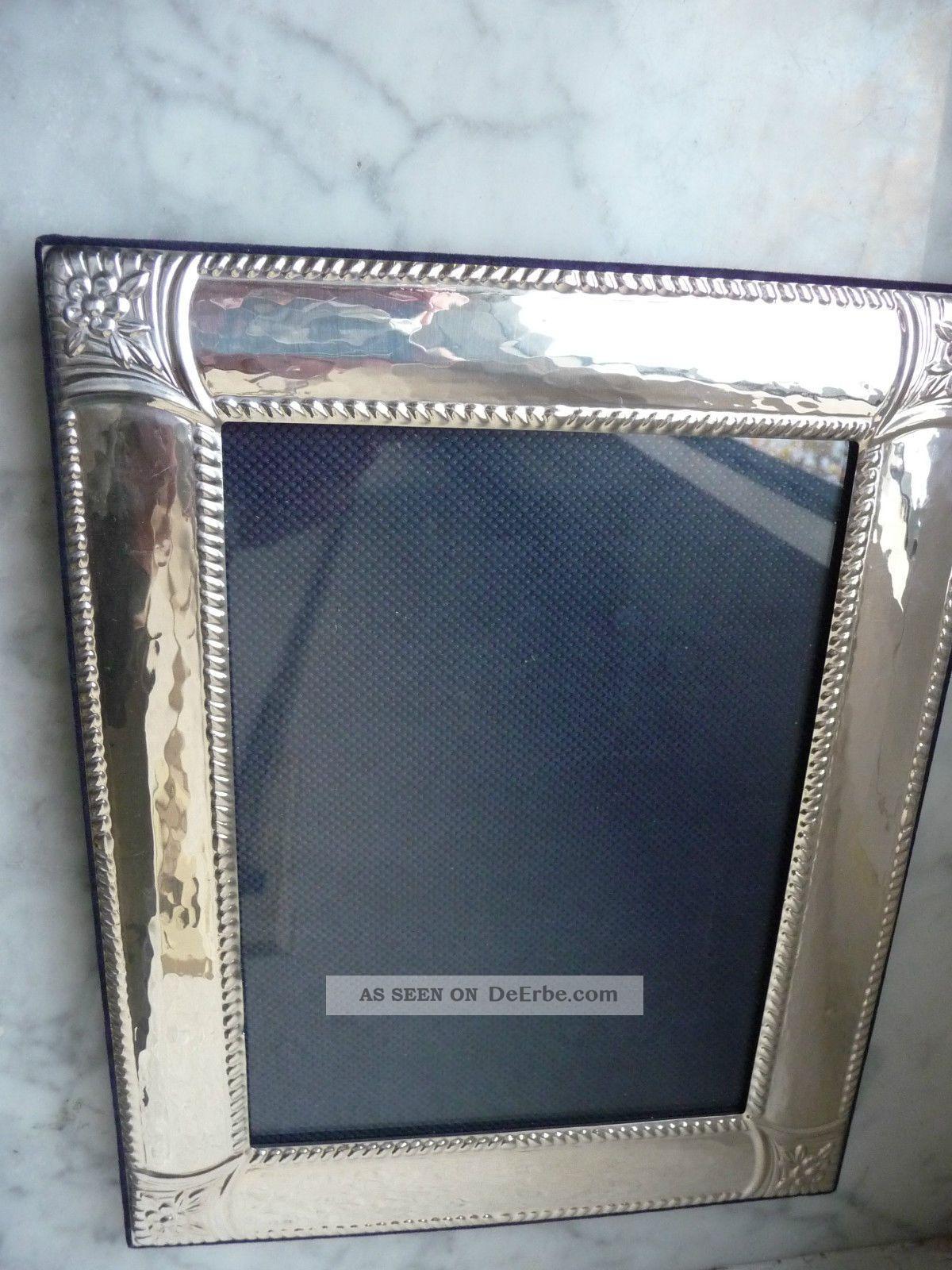 Silber Sterling 925 Bilder Rahmen Bilderrahmen Mit Glas 24 Cm X19 Cm ...