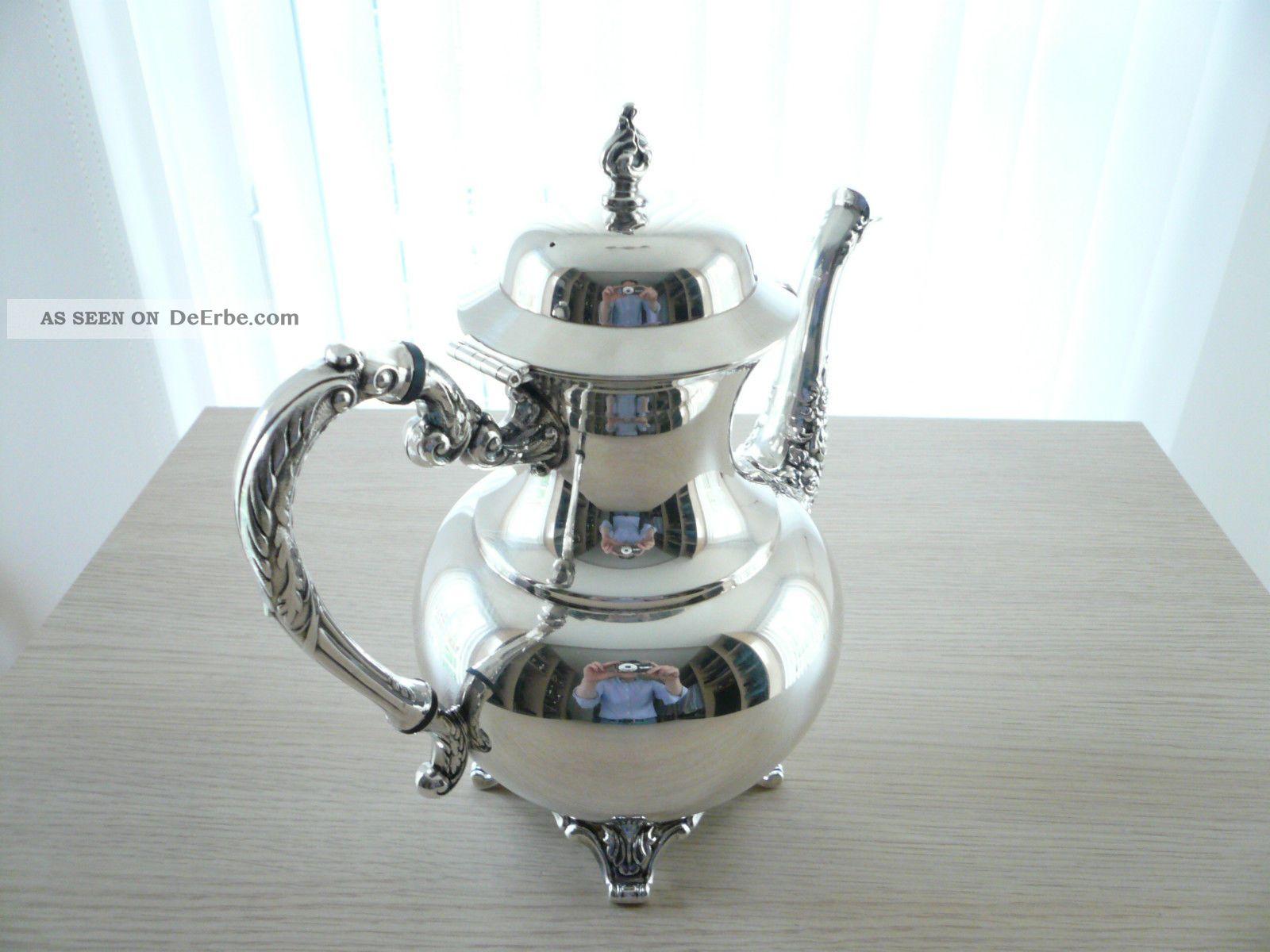 herrliche klassische silber teekanne oneida silversmiths. Black Bedroom Furniture Sets. Home Design Ideas
