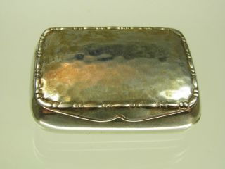 Schöne Jugendstil Pillendose Silberauflage Feines Stäbchendekor Um 1940 Bild