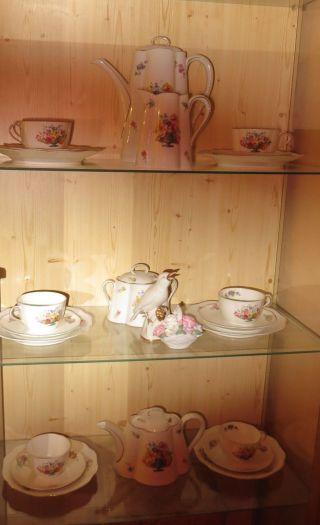 Antikes Kaffee - Und Tee - Service,  Ca.  1930,  Kronach - Bavaria