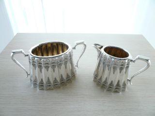 ♛ Englisches Silbernes Milch - U Zuckerset