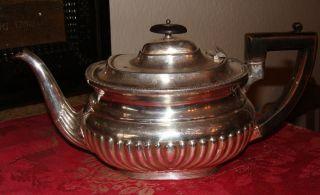 Wunderschöne Schwere Alte Teekanne,  Versilbert,  Birmingham,  Um 1930/40 Bild