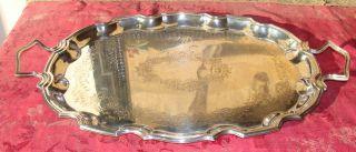 Schönes Altes Ovales Tablett Mit Rocaillen - Rand,  England,  Um 1930 Bild