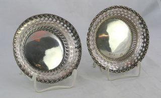 Paar Silberschalen Durchbruch Rand,  England Um 1900,  Sehr Schön Bild