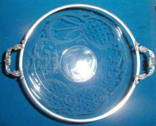 Jugendstil Schale Aus Glas Mit 835er Montierung Bild