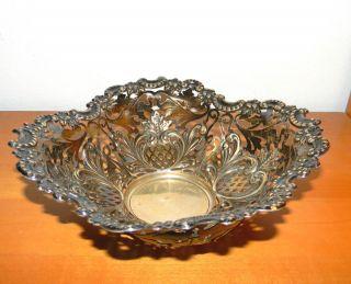 Alte Silberne Schale Gebäckschale Silber 800 Silberkörbchen Silber Bild