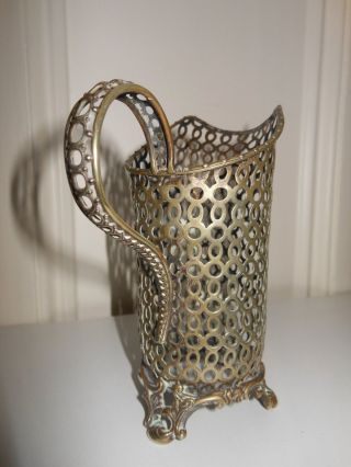 Silver Plated,  Continental,  Pierced,  Milk Jug (without Liner),  Circa 1850. Bild