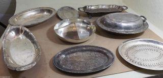 Versilberte Schalen & Platten - Ca.  1930 - 50 Aus Usa - 9 Stk.  Mit Gebrauchspuren Bild