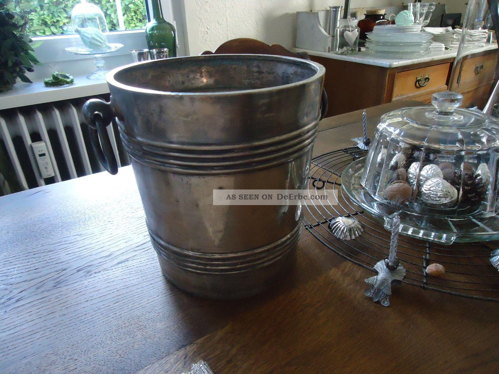 Uralter Sektkühler Frankreich Shabby Silber Gepunzt Maison Rouge Strasbourg Objekte vor 1945 Bild