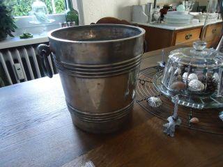 Uralter Sektkühler Frankreich Shabby Silber Gepunzt Maison Rouge Strasbourg Bild