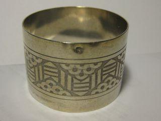 Serviettenringe & -halter Serviettenring Silber Um 1900 Silber