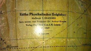 Raeth - Physikalischer Erdglobus - Holzfuss - Alt - 1949 Bild