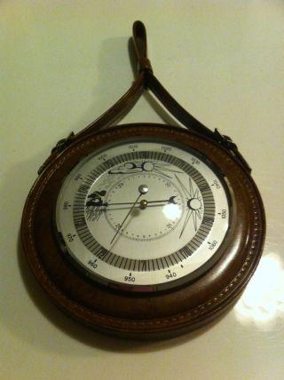 Vintage 60er 70er J.  Design Wetter Station Barometer Hygrometer Wand Deko Shabby Bild