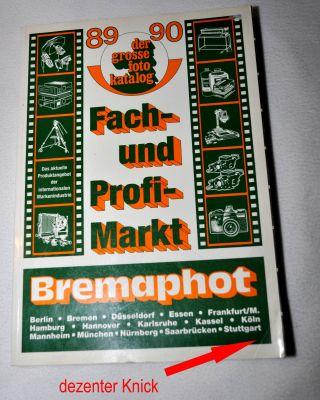Der Grosse Fotokatalog 1989 / 1990 Fach - Und Profimarkt Bremaphot C.  A.  T.  Verlag Bild
