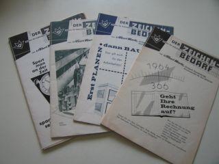 4 Stück Werbebroschüren Von Albert Martz Stuttgart Für Zeichenbedarf Bild