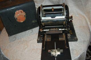 Ellams Rotary Duplikator Druckmaschine Vervielfältiger Vintage Mit Haube,  London Bild