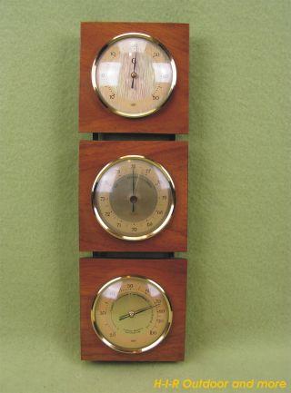 Selten - Barometer Thermometer Hygrometer Wetterstation Vintage 50er 60er Jahre Bild