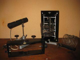 Phywe Leybold Leuchte Lampe Röhrenbrett Stativfuß Lehrmittel Physik Alt Konvolut Bild
