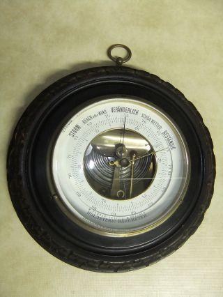 Altes Holosteric Barometer M.  Tauber Leipzig Dresden Wetterstation Dachbodenfund Bild