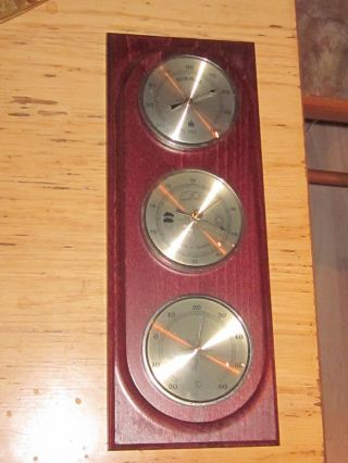 Barometer Mahagoni Bild
