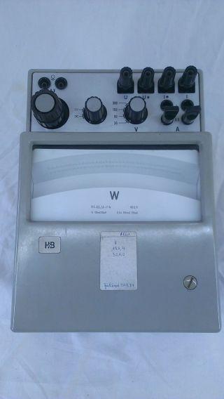 H&b Hartmann&braun Wattmessgerät Ohm Volt Ampere Strom Bakelit Antik Selten Bild