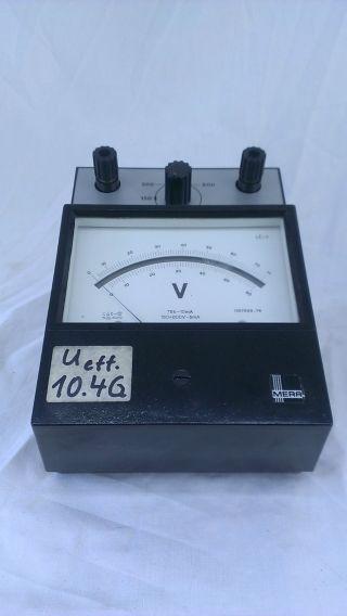 Mera Meßgerät Voltmeter Ampere Strom Bakelit Antik Selten Bild