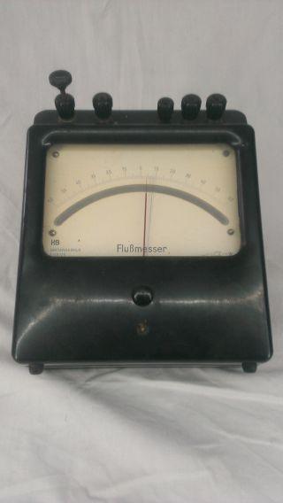 H&b Hartmann&braun Flußmesser Strommessgerät Bakelit Antik Selten Bild