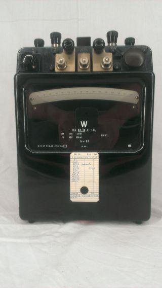 H&b Hartmann&braun Wattmessgerät Volt Ohm Ampere Strom Bakelit Antik Selten Bild
