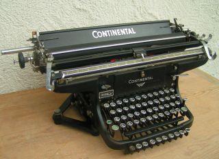 Alte Antike Schreibmaschine.  Continental Um 1900/30 Gusseisen.  5 Reihige Tastatur Bild