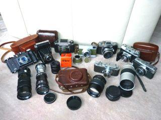 Alte Kameras Und Alte Objektive Konvolut,  Viele Teile Bild