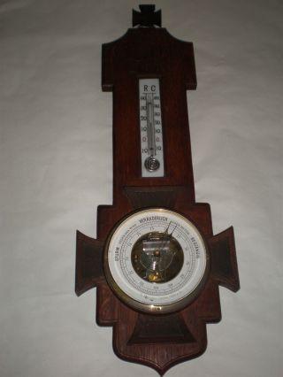 Antiker Barometer Ek Eisernes Kreuz Die Eiserne Zeit 1.  Wk Wwi Reservistika Bild