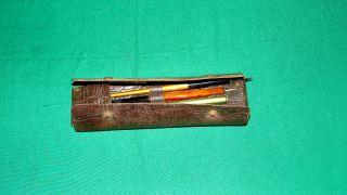 Uraltes Schreibset Schreibfedern Holz Bakelit Lederetui 1930 L & C Hardtmuth Bild