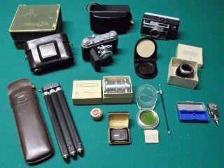Kodak Retina Ia,  Kodak Instamatic 324,  Stativ,  Antikes Zubehör Aus Nachlass Bild