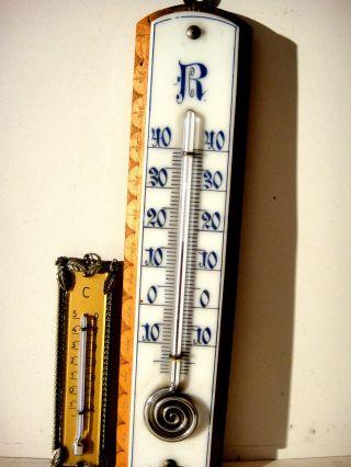 2 Alte,  Antike Thermometer.  Das Alter Dürfte Ca.  Um 1820 /1850 Sein D.  A.  1900 Bild