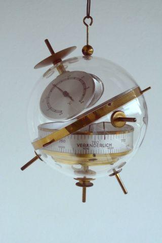 50er 60er J.  Design Wetterstation Sputnik Barometer Hygrometer Thermometer Bild