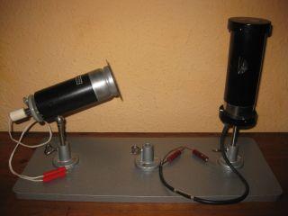Alte Spektrallampe Hg Prof.  Dr.  Maey Leybold Leuchte Plattenfuß Lehrmittel Physik Bild