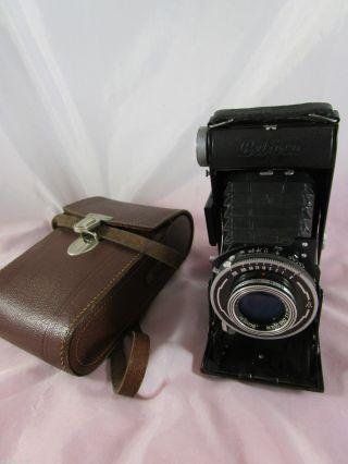 Belca Dresden Belfoca Bonotar/tempor Kamera Camera,  Tasche Um 1952 Bild