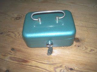 Alte Geldkassette Metall Kassette 50 - 60er Jahre 0,  8 Kg Schlüssel Bild