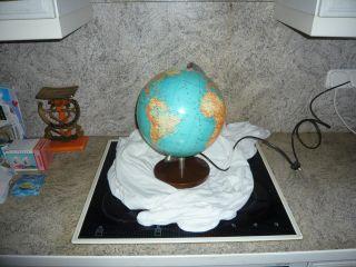 Kleiner Alter Globus Von Jro Erdkugel Globe Antik Holz - Fuss Selten Jro - Verlag Bild