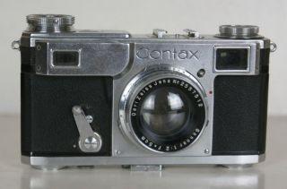 Seltene Kamera Ikon Contax Ii Carl Zeiss Jena Objektiv 2557512 Sonar 1:2 F=5cm Bild