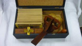 Orig.  Alter Stereo Bildbetrachter Mit 115 Bildern Um 1900 Sammlerstück Bild