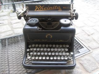 Seltene Rheinita / 9 Schreibmaschine Rarität Top Dekostück Bj.  1929/30 Bild