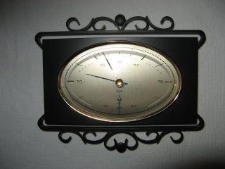 Älteres Sundo Barometer Mit Thermometer Im Eisen / Schmiedeeisen - Gehäuse Bild