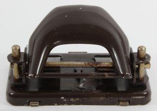 Kleiner Locher - Voll FunktionstÜchtig - SchÖne Patina - Vintage Paper Punch Bild