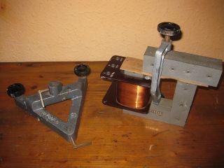 Leybold Kern Spule Trafo 1000 Wdg.  1,  25a Stativfuß Schule Lehrmittel Physik Alt Bild