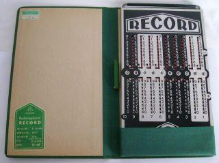 Rechenapparat Record Rechenschieber 1967 Bild