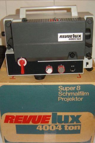 Revue Lux 4004 Ton 8tonfilmprojektor (wie) Alles Kompl.  Im Orig.  Karton Bild