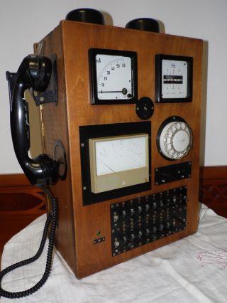 Telefon,  Telefonanlage Aus Der Ddr: Kleiner Prüfschrank 50,  Gut Erhalten Bild