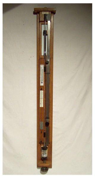 Seltenes Flüssigkeits - Barometer Kontrollbarometer Lambrecht Göttingen Um 1920 Bild
