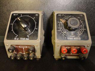 2 Alte Strom Und Widerstandsregler Mit Dreh - Anschlüssen Bild